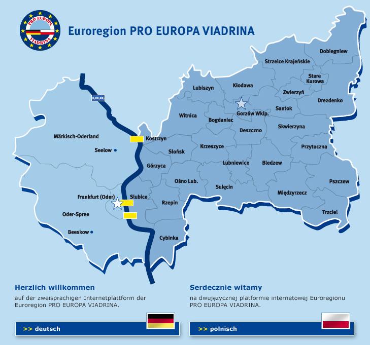 Frankfurt Karte Europa.Euroregion Pro Europa Viadrina